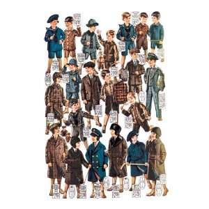 Little Boys Modeling Garments 24X36 Canvas Home & Kitchen