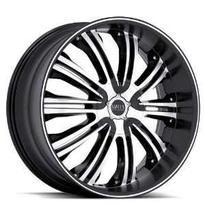 Status S811 Symbol 24x9.5 Ford Dodge Wheels Rims Black Machine Face