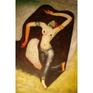 24X36 inch Kees Van Dongen Oil Painting Repro Indian