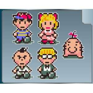 Earthbound Hero Pack of vinyl decal stickers 4 set of 5
