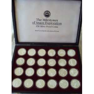 The Milestones of Space Exploration $50 Proof Twenty Four Silver Coin