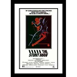 Stunt Man 32x45 Framed and Double Matted Movie Poster   Style B   1980
