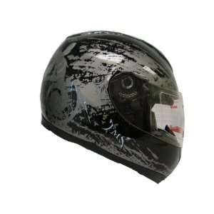 Tms Gloss Black Hornet Full Face Motorcycle Street Helmet