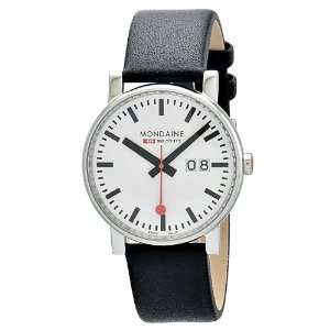 Date 40mm White Dial, Black Leather Strap A627.30303.11SBB: Watches