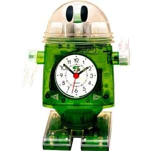 Riki Robot Gyrating Musical Alarm Clock Green: Home