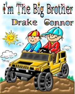 BIG BROTHER T SHIRT  CAR DESIGN   FREE CUSTOMIZING