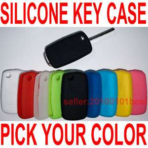 VW Silicone Key Fob Case Hold Cover remote flip leather
