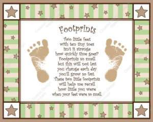 Twinkle Little Star Babys Footprints with Poem