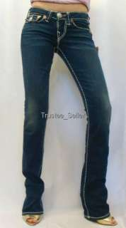 NWT True Religion Brand Jeans Billy White Super T Edge Stitch Del Mar