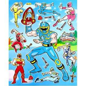 Sticker Sheet BL088 ~ Blue Ranger Red Ranger Yellow Ranger Pink Ranger