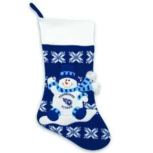 24 NFL Tennessee Titans Knit Snowman & Snowflake Christmas Stocking