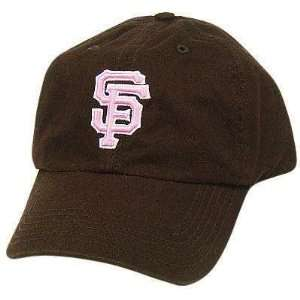 MLB SAN FRANCISCO GIANTS BROWN GARMENT WASH HAT CAP