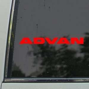 Advan Red Decal JDM Drift Racing EVO Civic Car Red Sticker