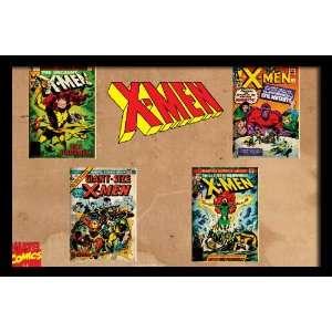 Marvel Comics Retro X Men Comic Book Covers , 20 x 30 Framed Poster
