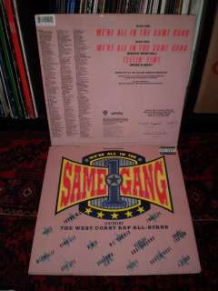 VG++ 12 WEST COAST RAP ALL STARS/DR. DRE/EAZY E Were All In The Same
