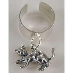 A Cute Little Kitty Cat Ear Cuff in Sterling Silver The