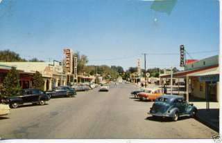 1940s CARS BOULDER CITY NEVADA STREET SCENE POSTCARD