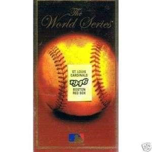 1946 World Series VHS. Red Sox vs. Cardinals. Rare New 017552000808