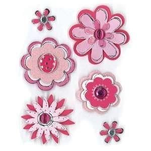Pink Sketch Flowers Sticker Sheet