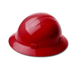 Red Hard Hat Americana Full Brim STD ANSI Z89.1 ERB Made