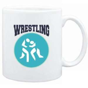 Mug White  Wrestling PIN   SIGN / USA  Sports  Sports