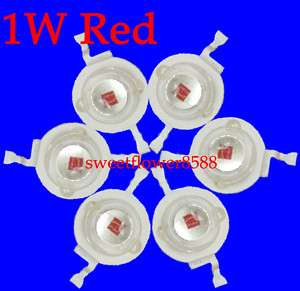 100pcs 1W HighPower Red LED 1watt Without Al Base Board