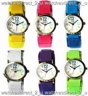 Reflex Colours Kids Girls Boys Easy Read Velcro Watch