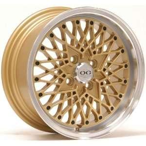15x7 Axis Og San (Gold w/ Machine Polished Lip) Wheels/Rims 4x100