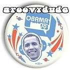 President Barack OBAMA 2008 Political Campaign 08 Pin Button ASTRONAUT