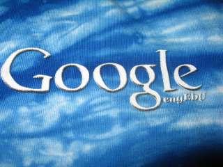 GOOGLE logo TIE DYE T SHIRT size L/XL NEW Blue Pink tee