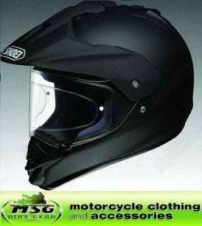 SHOEI HORNET DS MATT BLACK MOTORCYCLE CRASH HELMET XXL