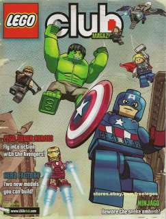 LEGO Club Magazine MAY JUNE 2012 issue MARVEL NINJAGO LOTR MINIFIGS