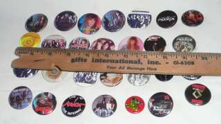 Lot 28 Heavy Metal buttons badges pinbacks pins 80s hard rock thrash