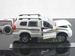 32 Toyota Land Cruiser PRADO white pull back car Metal Die Cast model