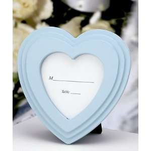 Heart Shaped Baby Frame   Blue (Set of 20)   Wedding Party
