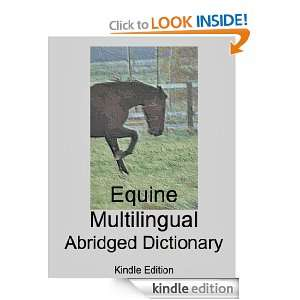 Equine Multilingual Abridged Dictionary   Kindle Edition Jean Claude