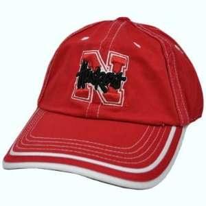 NCAA Nebraska Cornhuskers Huskers Garment Wash Big Red White Stitches