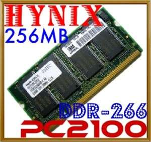 256MB Hynix Dell IBM HP PC2100 DDR266 Laptop Memory RAM