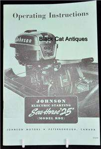 Orig Boat Owner Manual Johnson Sea Horse 25HP Model RDE