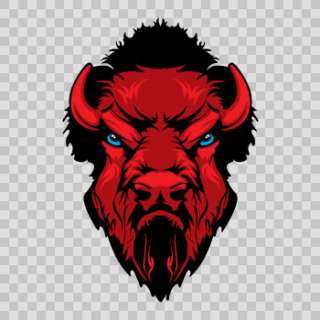 Decal Sticker Angry Red Bison Head 4X4 Truck Helmet Racing Power XXX26