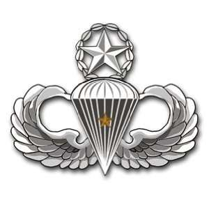 US Army Master 1 Combat Jump Wings Decal Sticker 5.5