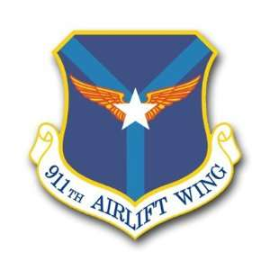 US Air Force 911th Airlift Wing Decal Sticker 3.8 6 Pack