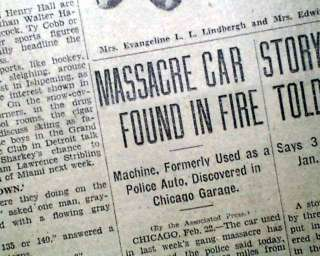 Post ST. VALENTINES DAY MASSACRE Al Scarface Capone Murders in 1929