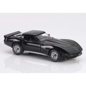 1979 Corvette Diecast Model Car in Black with Black Interior Limited
