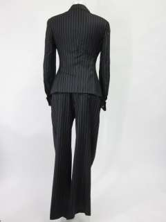PAUL SMITH Black Pinstripe Wool Jacket Pants Suit Sz 42