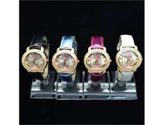 4x Cute Crystal HelloKitty lovely Girl Quartz WristWatch Watch Leather