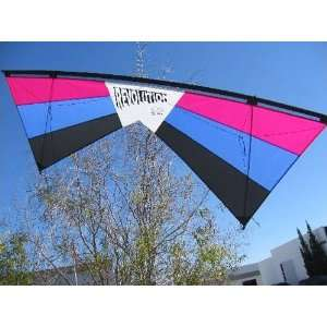 Revolution EXP Quad Line Stunt Kite Raspberry Blue Black