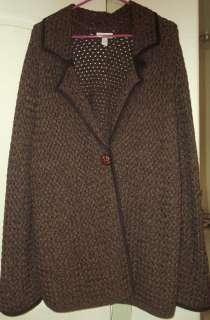 Charter Club Woman BROWN nice KNIT Cardigan SWEATER 2X