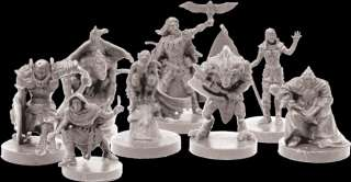 Descent  in The Dark core game with detailed PAINTED FIGURES