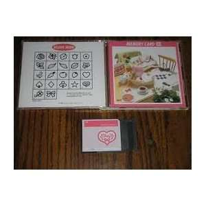 Janome Memory Craft Sewing Machine card APPLIQUE Series